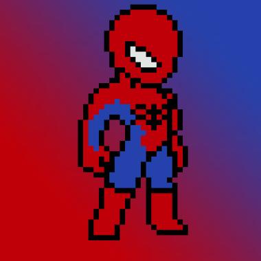 Spider-Man en pixel art