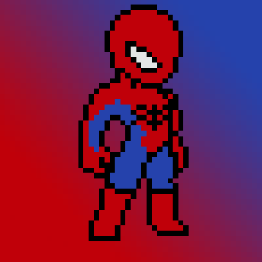 Spider-Man en pixel art